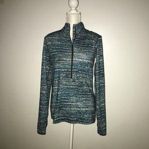 Nike Pro Warm Half Zip Running Pullover Sz  L